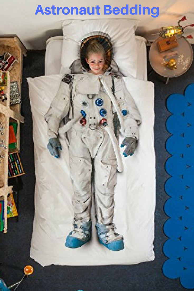 I saw this Astronaut bedding featured in the movie Wonder right ...