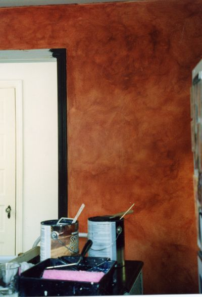 Beautiful Rusty Red Faux Painting Walls Faux Painting Faux Paint Finishes