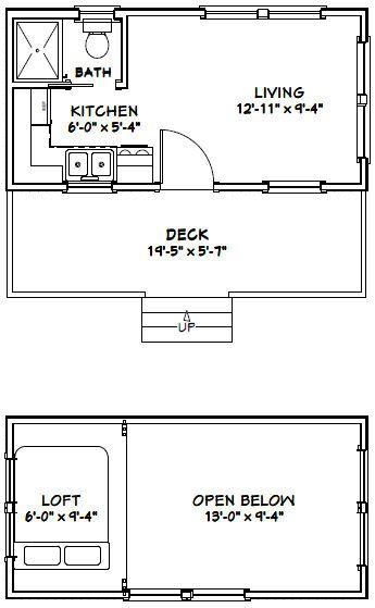 20x10 Tiny House 1 Bedroom 1 Bath 266 Sq Ft Pdf Floor