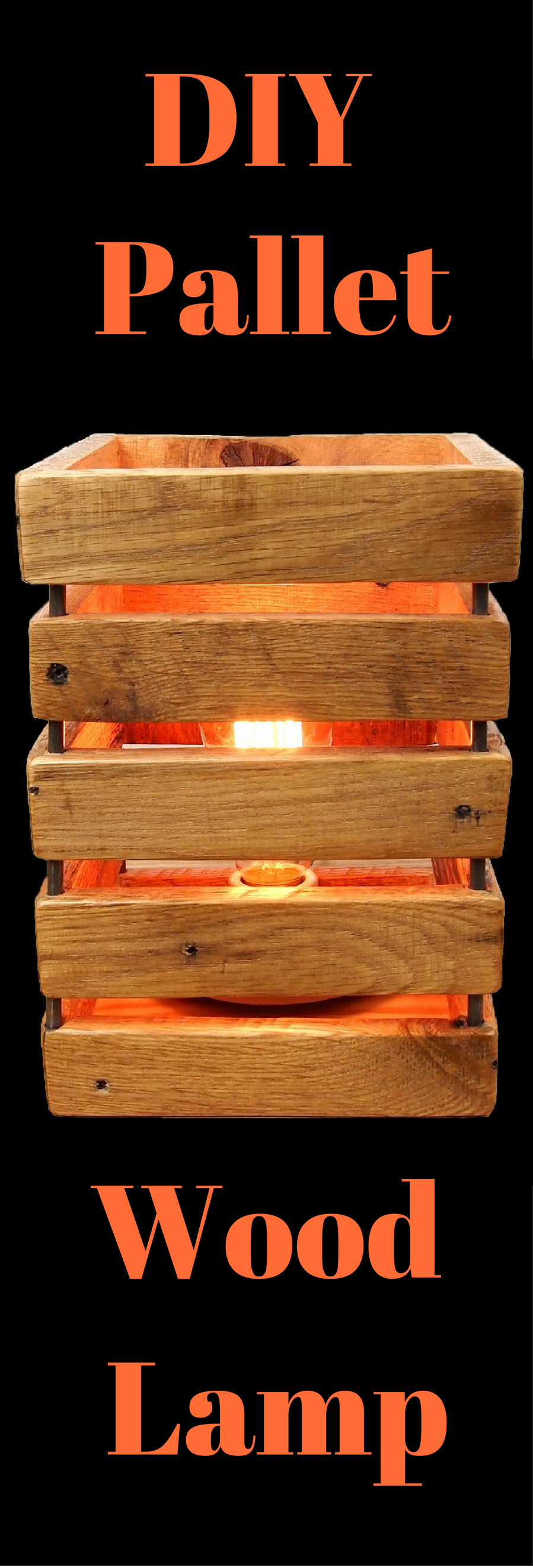 DIY Pallet Lamp | Pallet diy, Easy woodworking projects ...