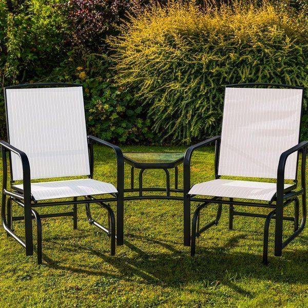 details about outdoor garden furniture love seat recking gliding chairs comfortable