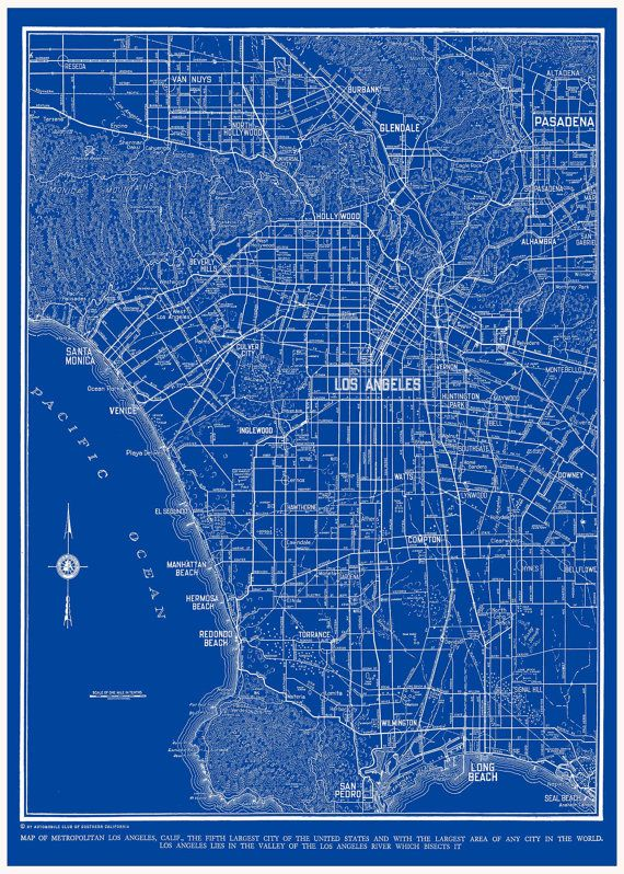 1938 los angeles street map vintage blueprint 16x20 by themapshop on 1938 los angeles street map vintage blueprint 16x20 by themapshop on etsy malvernweather Choice Image