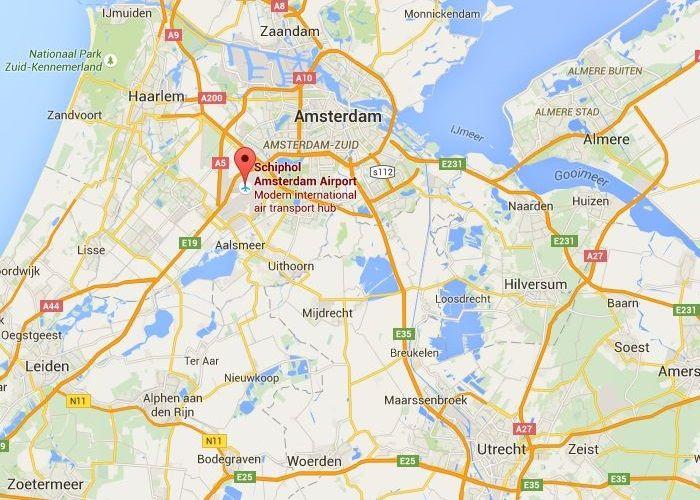 Amsterdam Netherlands Airport Amsterdam Netherlands Airport map
