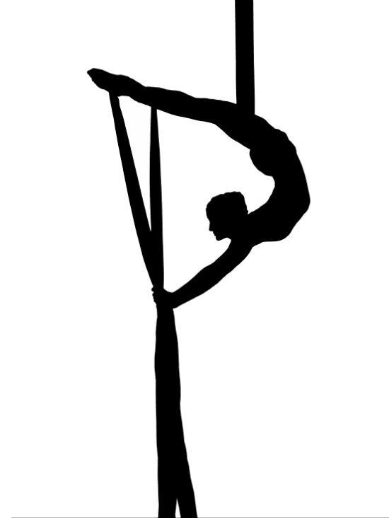 Aerial Silk Artist Silhouette Art Print | Arial Silk, Kunst und ...