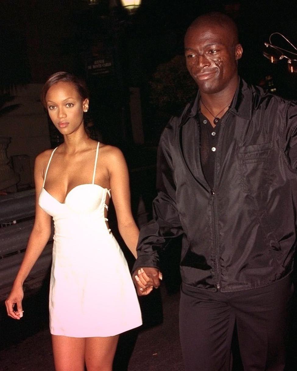 """Love And Basketball Tyra Banks: """"Tyra Banks And Seal, 1990s Her Dress Tho """""""