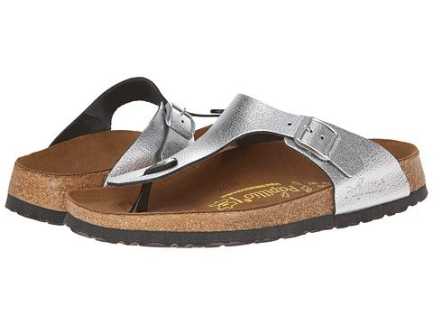 770639b6e34 Birkenstock Gizeh by Papillio Metallic Silver Leather - Zappos.com Free  Shipping BOTH Ways