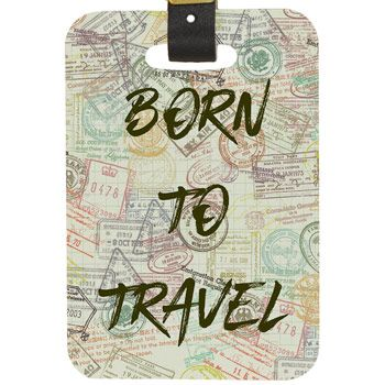 d5063bffec74 Born To Travel Custom Luggage Tag | Novelties | Custom luggage tags ...