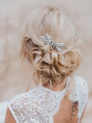 """""""Bailey"""" Small Bridal Hair Comb ~ Silver, Gold, Rose Gold or Champagne"""