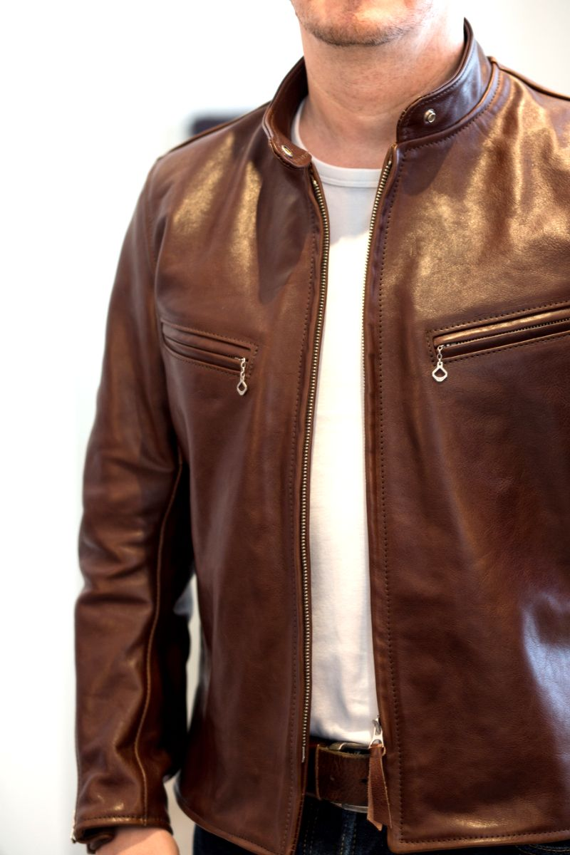 Aero Board Racer Seal Mens Leather Bomber Jacket Brown Leather Jacket Men Leather Jacket Men [ 1200 x 800 Pixel ]