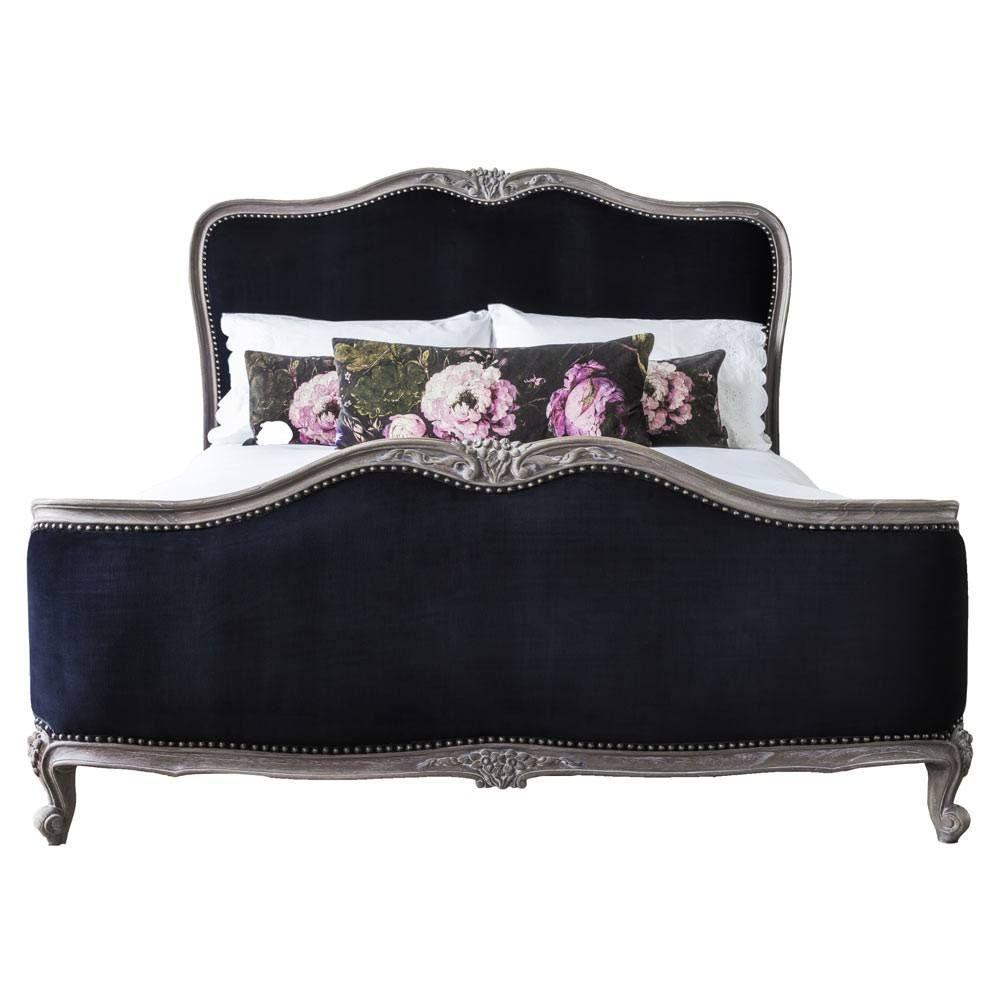 Best Montmartre Black Velvet Bed Luxury Bed Black Velvet 400 x 300