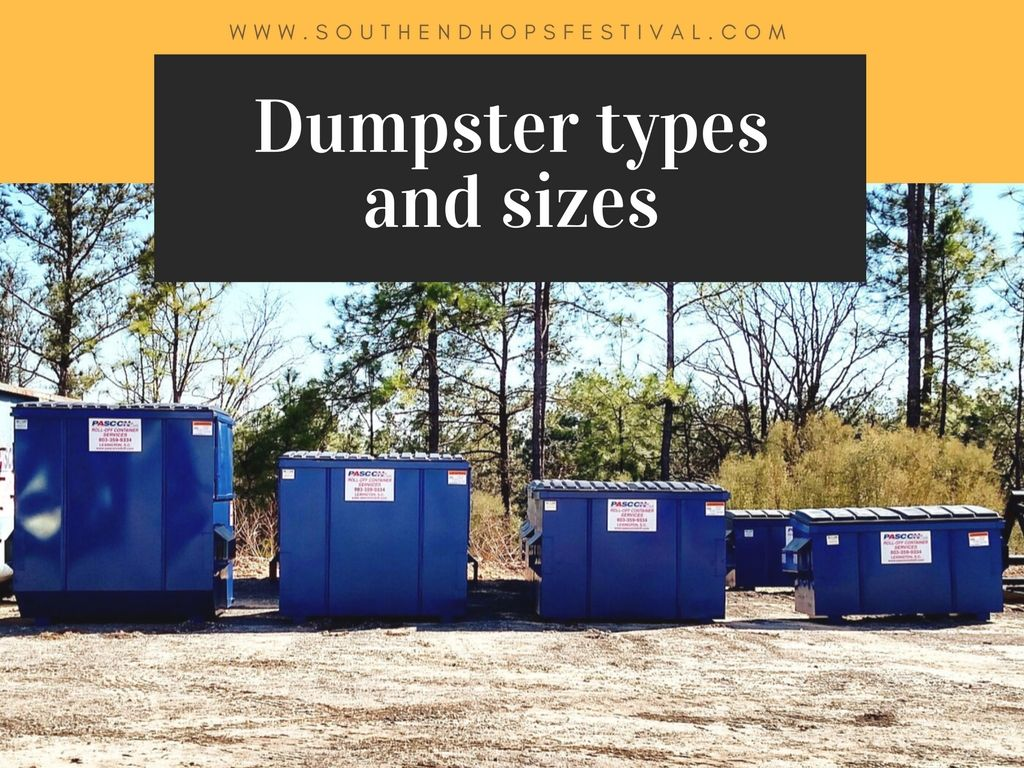 Dumpster types and sizes rent a dumpster dumpster