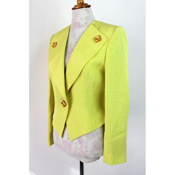 frank-usher-ladies-smart-yellow-80s-style-jacket-blazer-size-m-4-590x590.jpg (590×590)