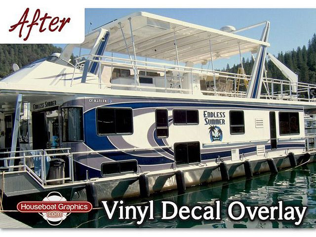 Houseboat Graphics Vinyl Decal Overlay Boat Name House Boat Boat Boat Names