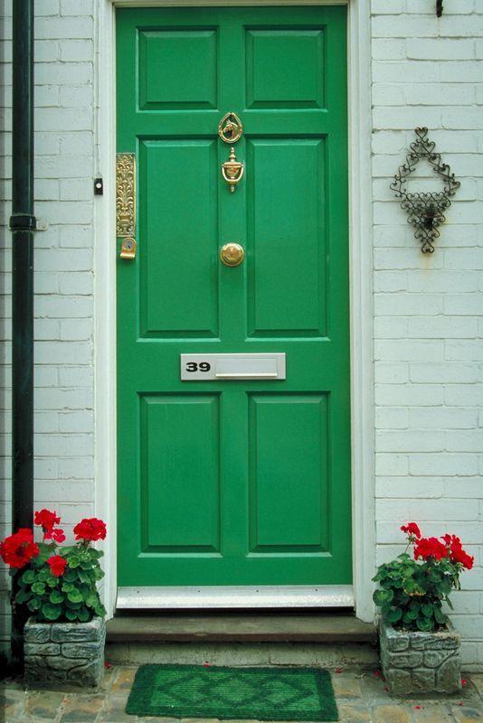 Green Front Door oh, the things front door colors convey | green front doors, front