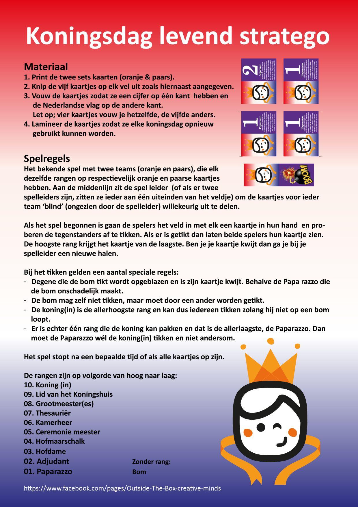 Spiksplinternieuw Levend Stratego spel dat Kiivy Nix voor Koningsdag 2014 maakte OZ-42