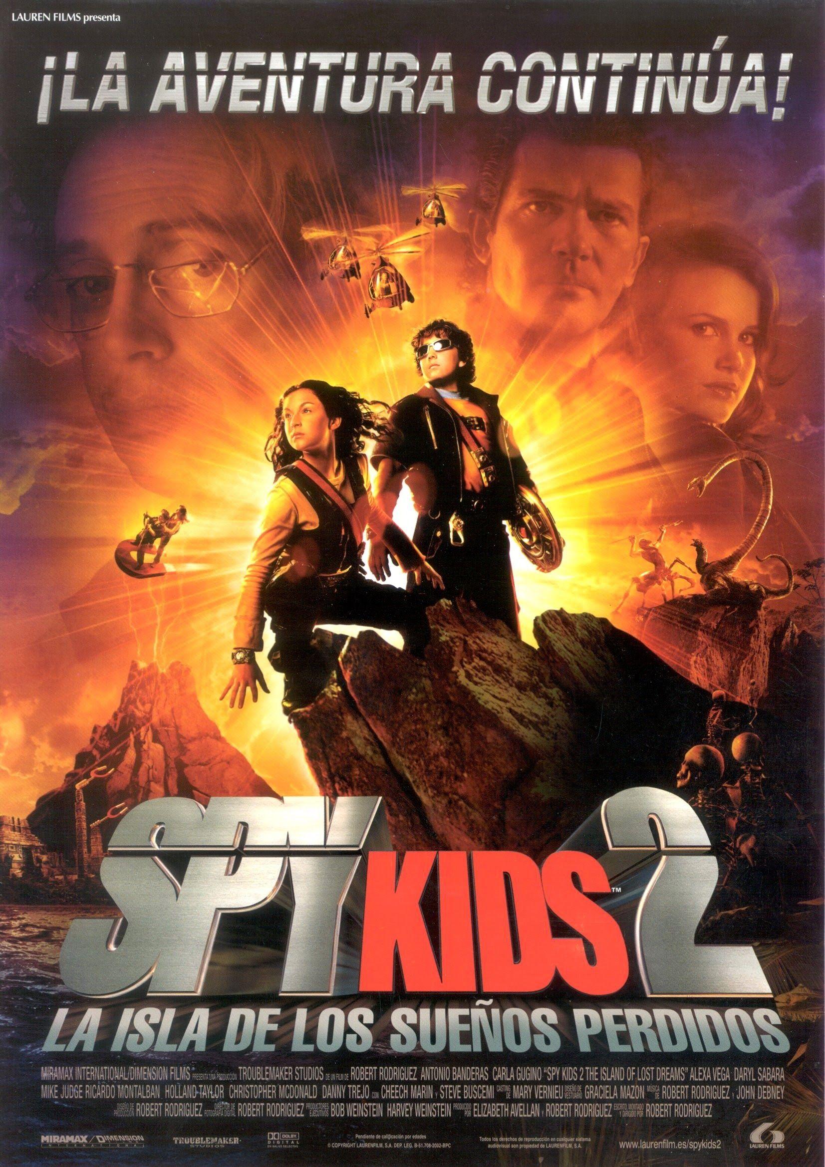 Spy Kids 2 La Isla De Los Sueños Perdidos Spy Kids Peliculas Que Debes Ver Mini Espias