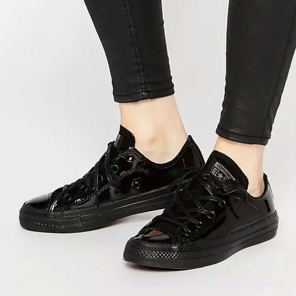 Converse Shoes | Nwt Converse Chuck Taylor Black Patent