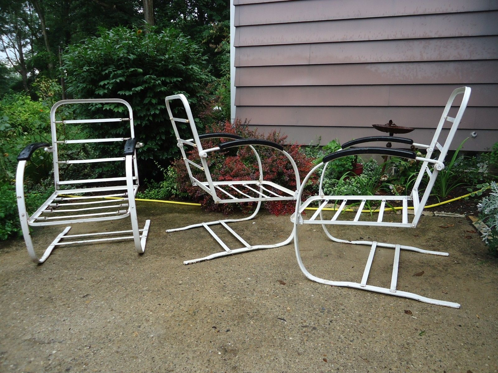 Howell bouncers Vintage Metal Porch Chairs