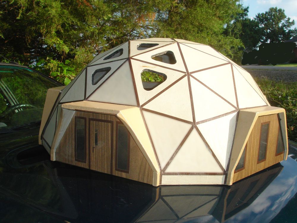 Geodesic Dome Residence Architectural Model Geodesic