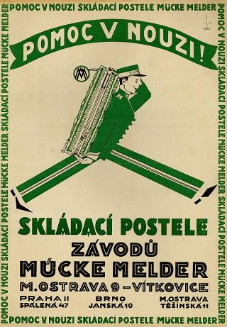 Advertising for furniture, Czechoslovakia