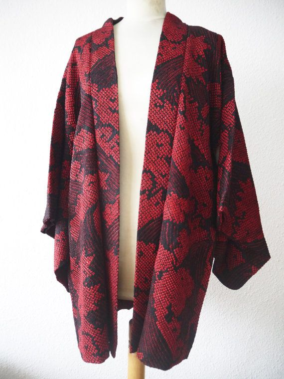 Veste kimono rouge