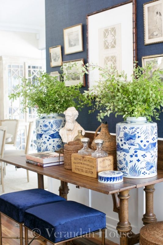 Are You A Member Of The Blue And White Club Enchanted Home Living Room Decor