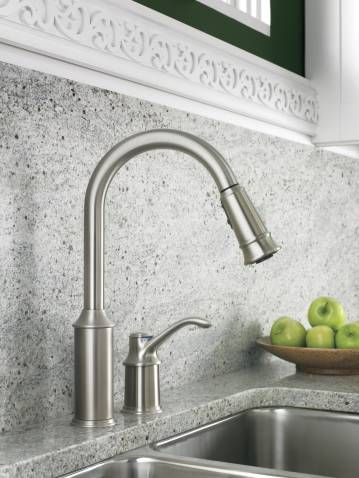 Aberdeen Classic Stainless One Handle High Arc Pulldown Kitchen Faucet