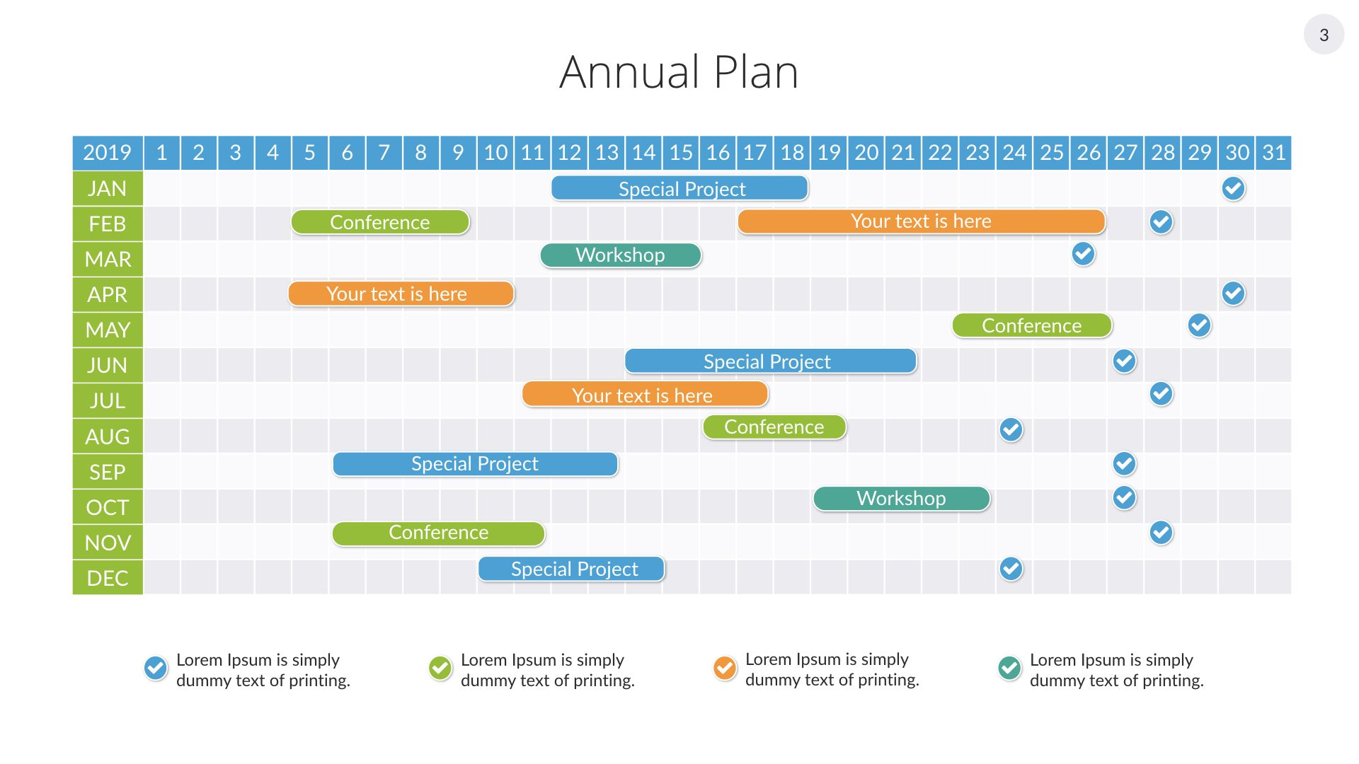 Gantt Charts Keynote Presentation Template For Mac