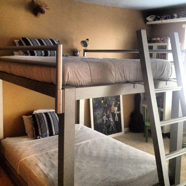 Bunk Beds With Images Queen Bunk Beds Diy Bunk Bed Bunk Bed