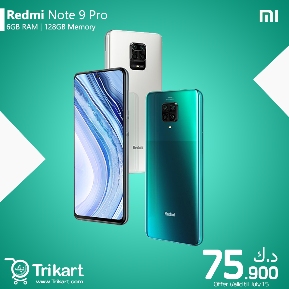 Xiaomi Redmi Note 9 Pro Price In Kuwait Trikart In 2020 Note 9 Online Mobile Shopping Xiaomi