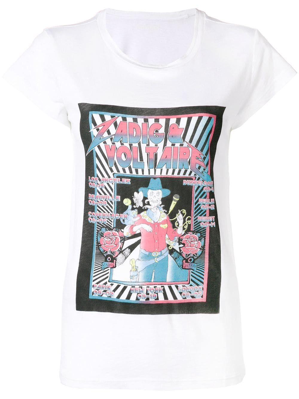 25621717e Zadig&Voltaire logo print T-shirt | VVV in 2019 | Zadig, voltaire, T ...