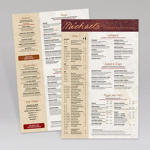 MichaelS Restaurant Main Menu Menucovers Restaurantmenu