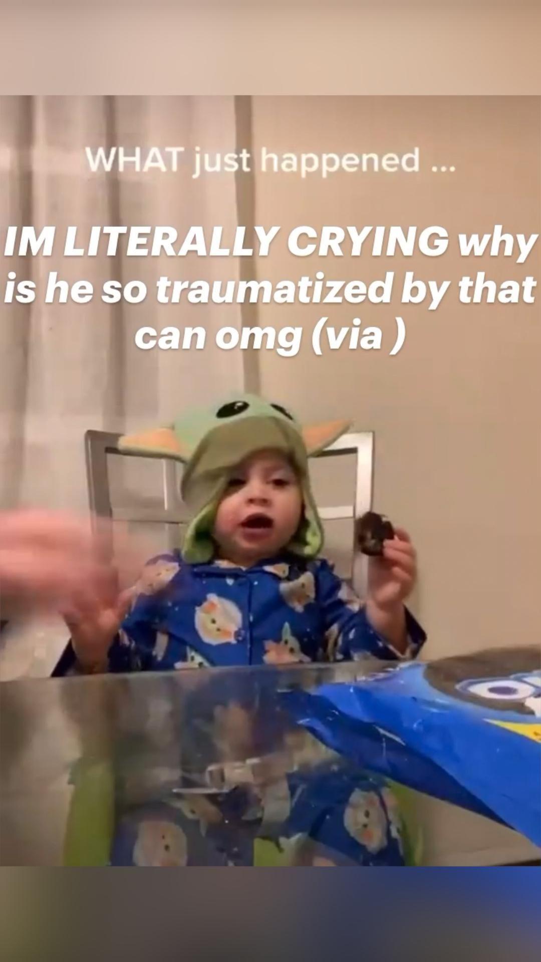 Traumatized baby!