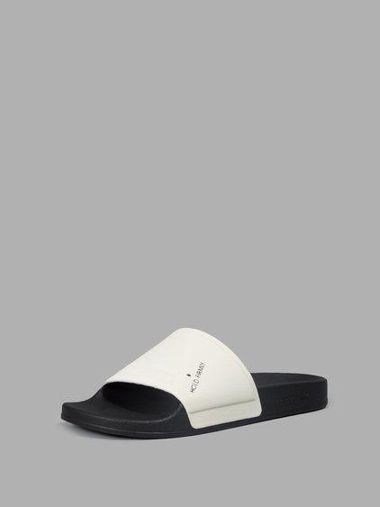 498a88382 RAF SIMONS RAF SIMONS WOMEN S BLACK WHITE POOL SLIDES.  rafsimons  shoes   sandals