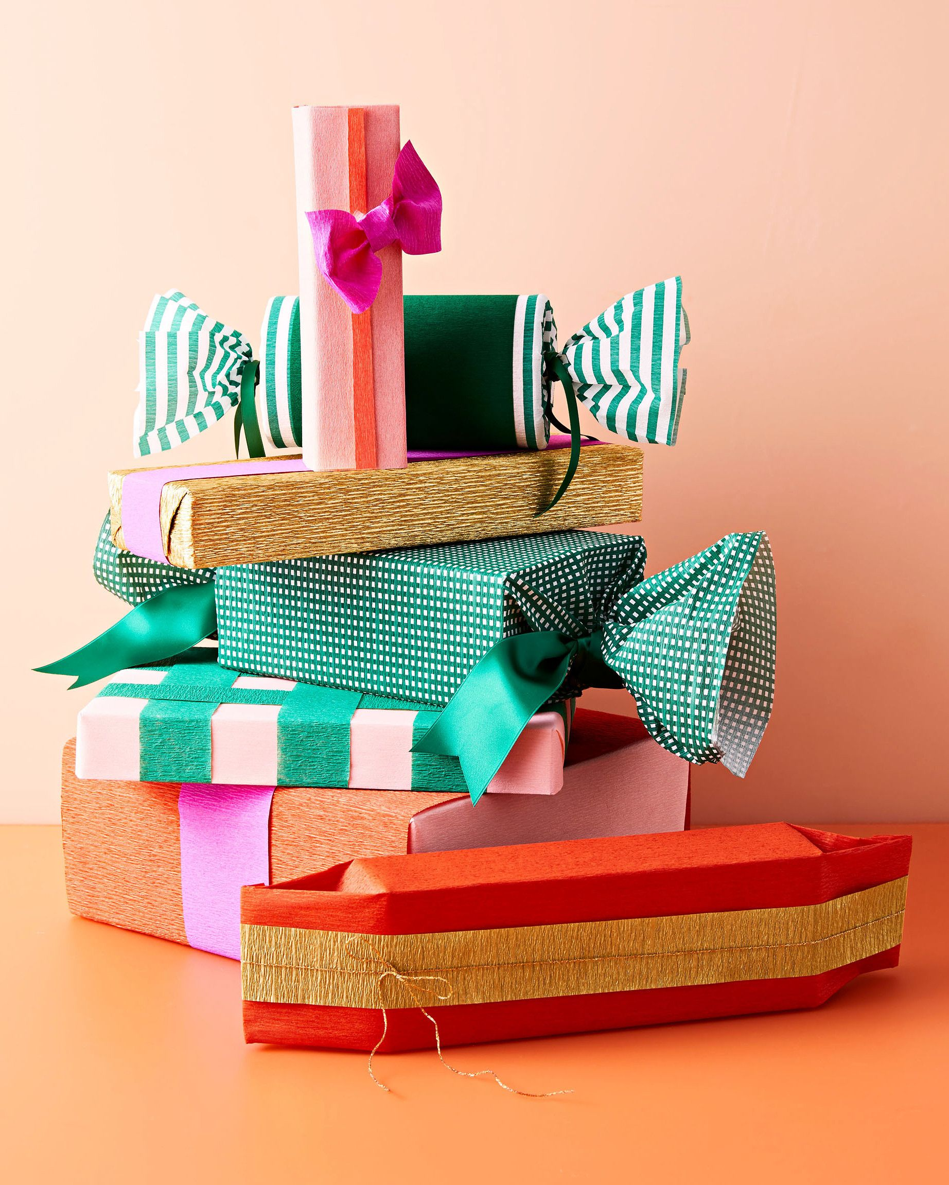 Crepe Paper It S Our Golden Secret To Gorgeous Gift Wrapping Gift Wrapping Paper Gifts Christmas Gift Wrapping