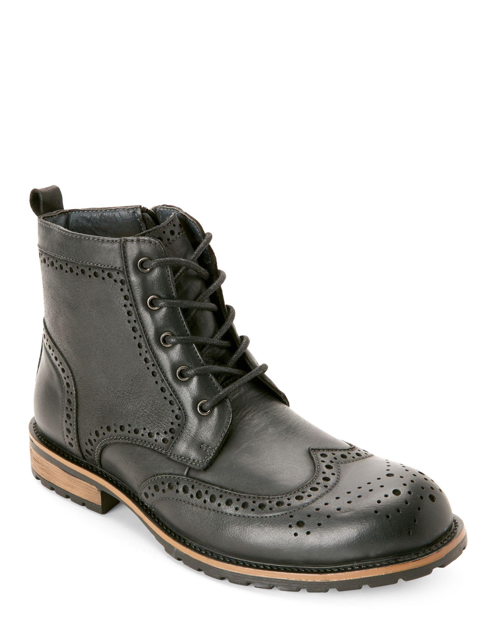 6a0b49dbcff Black Sprocket Brogue Wingtip Boots | *Apparel & Accessories ...