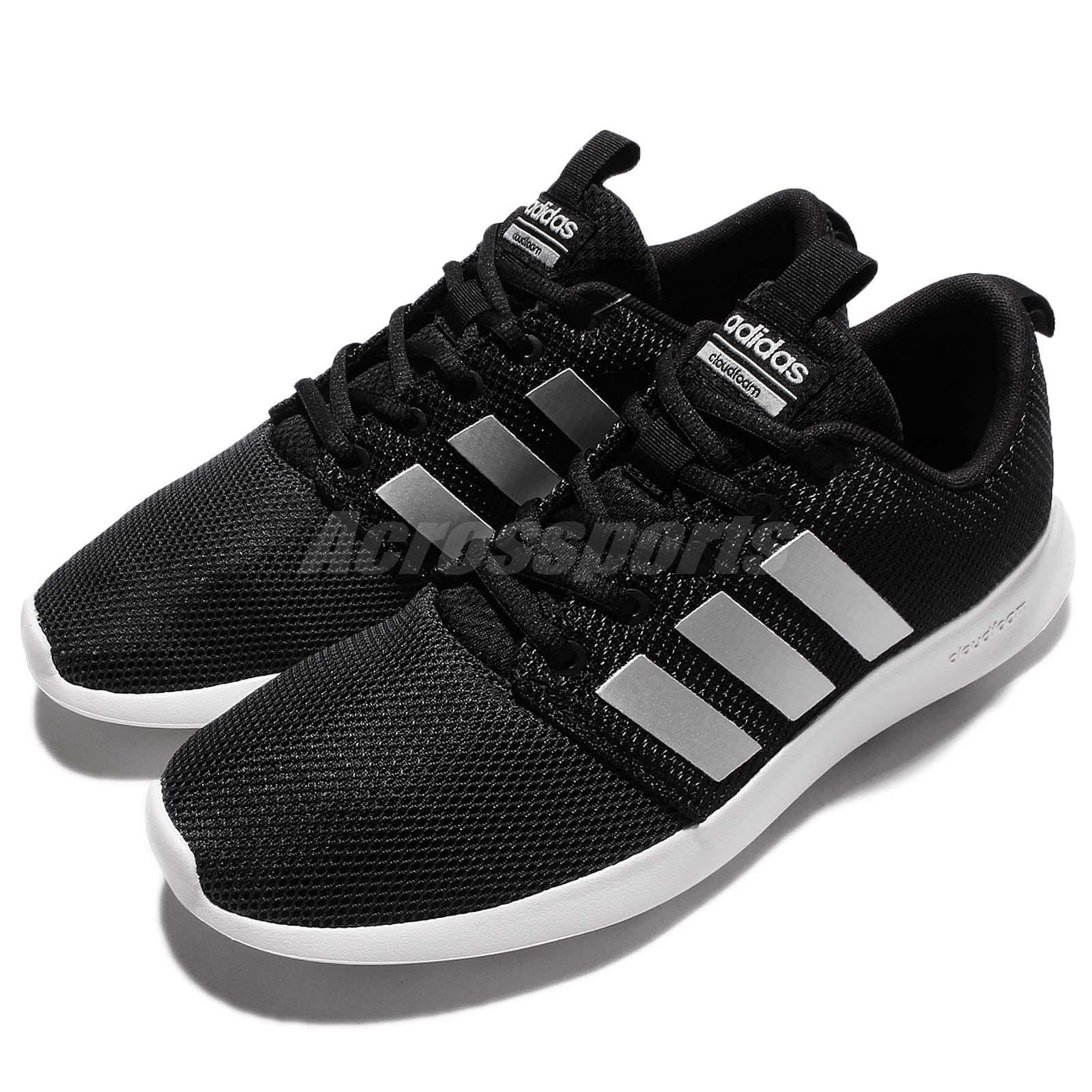 523a64b205d00 adidas Neo Cloudfoam Swift Racer Black White Men Running Shoes Sneakers  AW4154