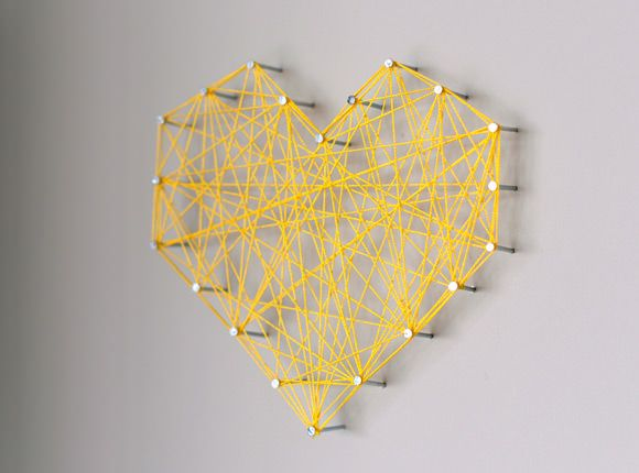 DIY Threaded Heart Wall Art | Walls, Craft and Crafty