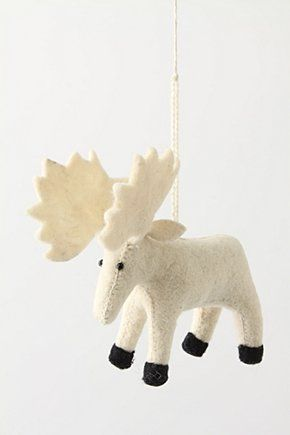 Moose Ornament: (He is really cute but I can't find the site for him...maybe I can figure out how to make him?)