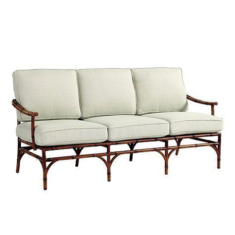 Ballard Designs Galante Sofa Fake Rattan Comes With Spa