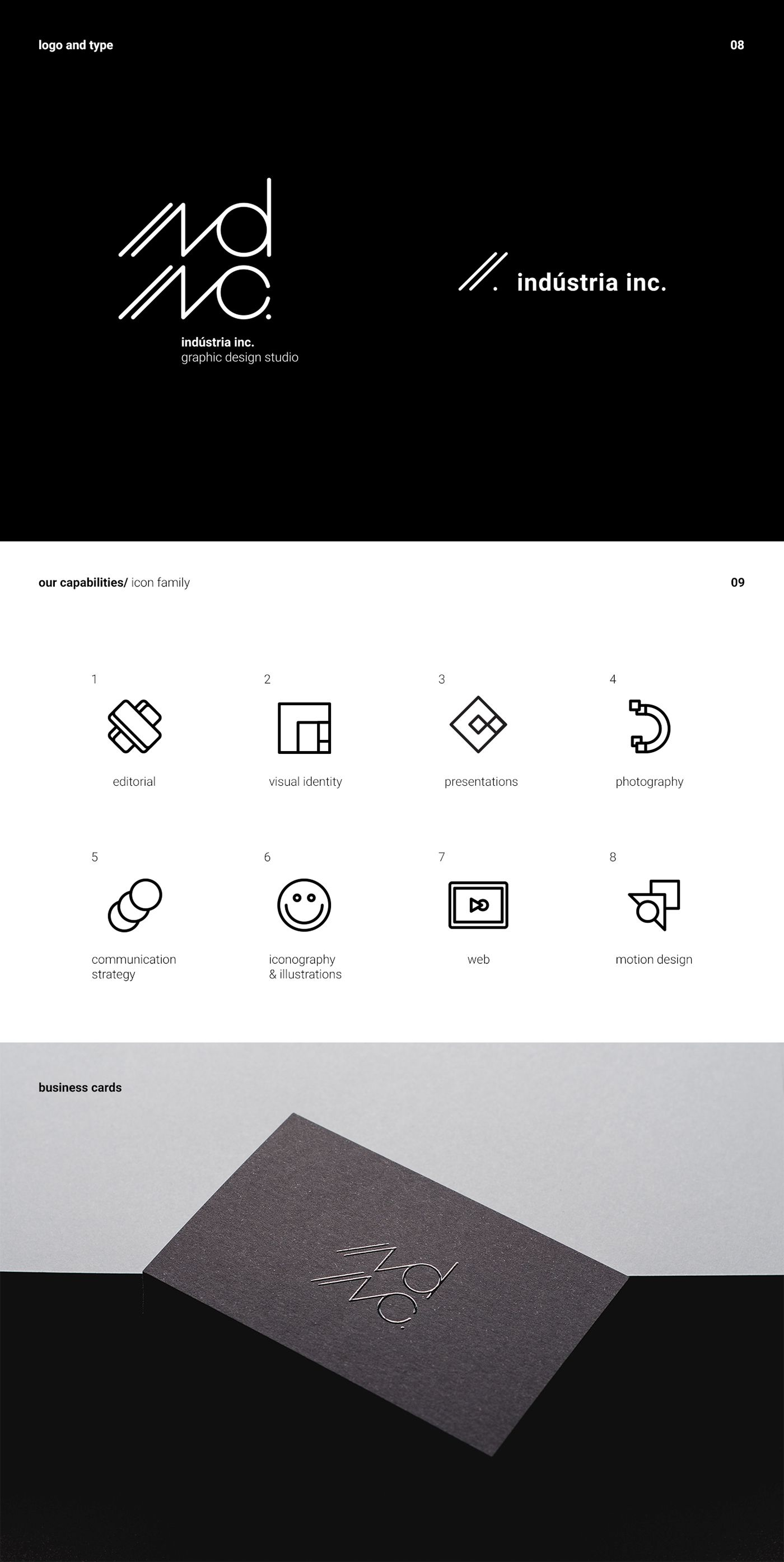 ind inc self identity on Behance ind