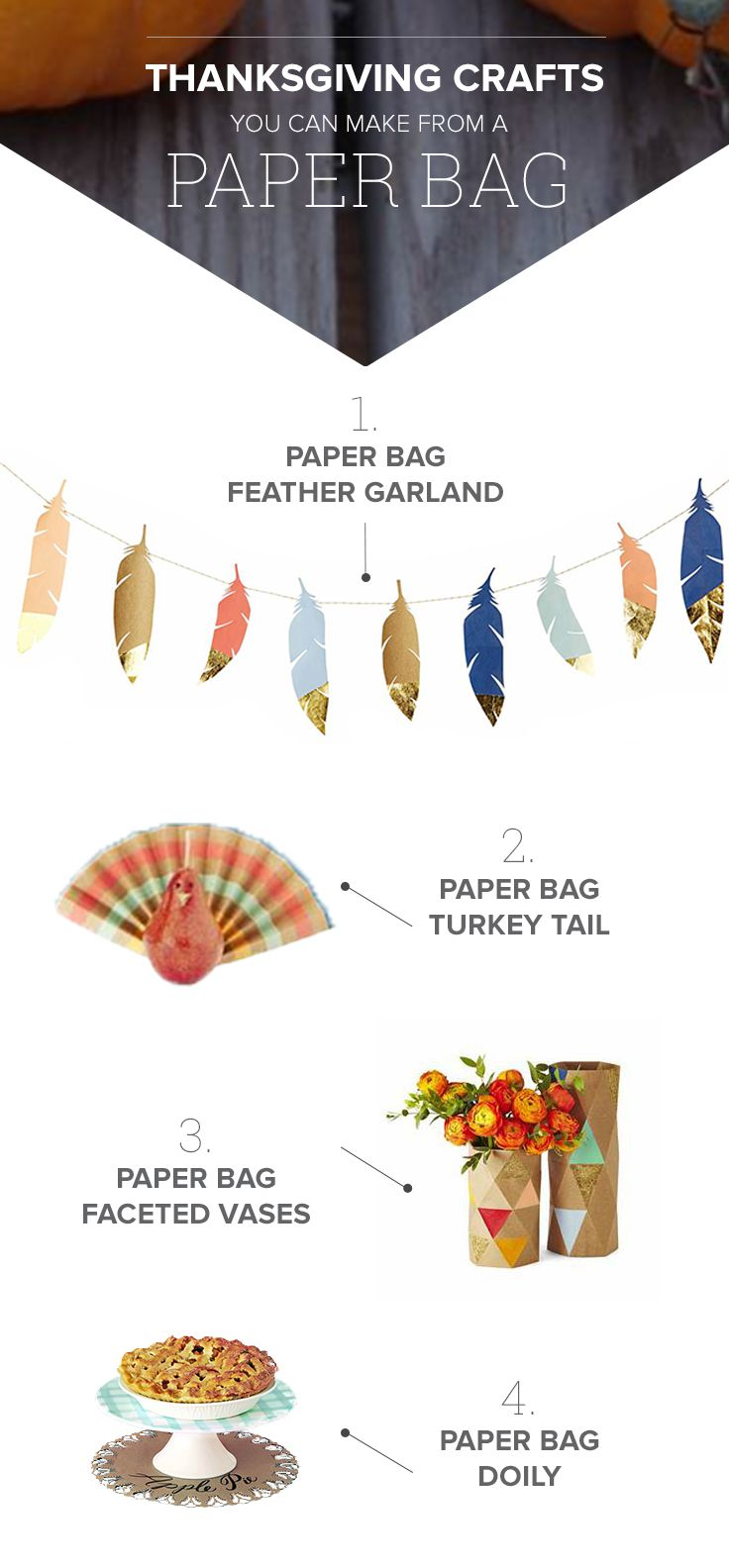 4 Thanksgiving Decorations You Can Make Right Now Using A Paper Bag
