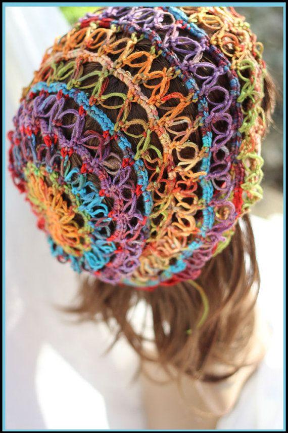Gems - Beautiful 1 Skein Hat Crochet Patterm , 2 Sizes | Stricken ...