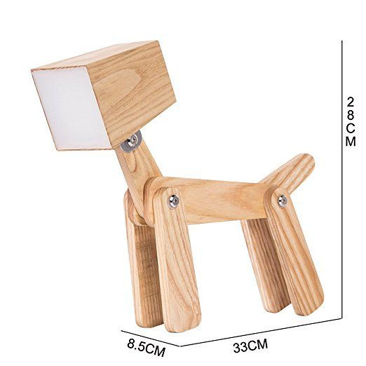HROOME Moderne Led Design Chien Ajustable Lampe de Table de Chevet