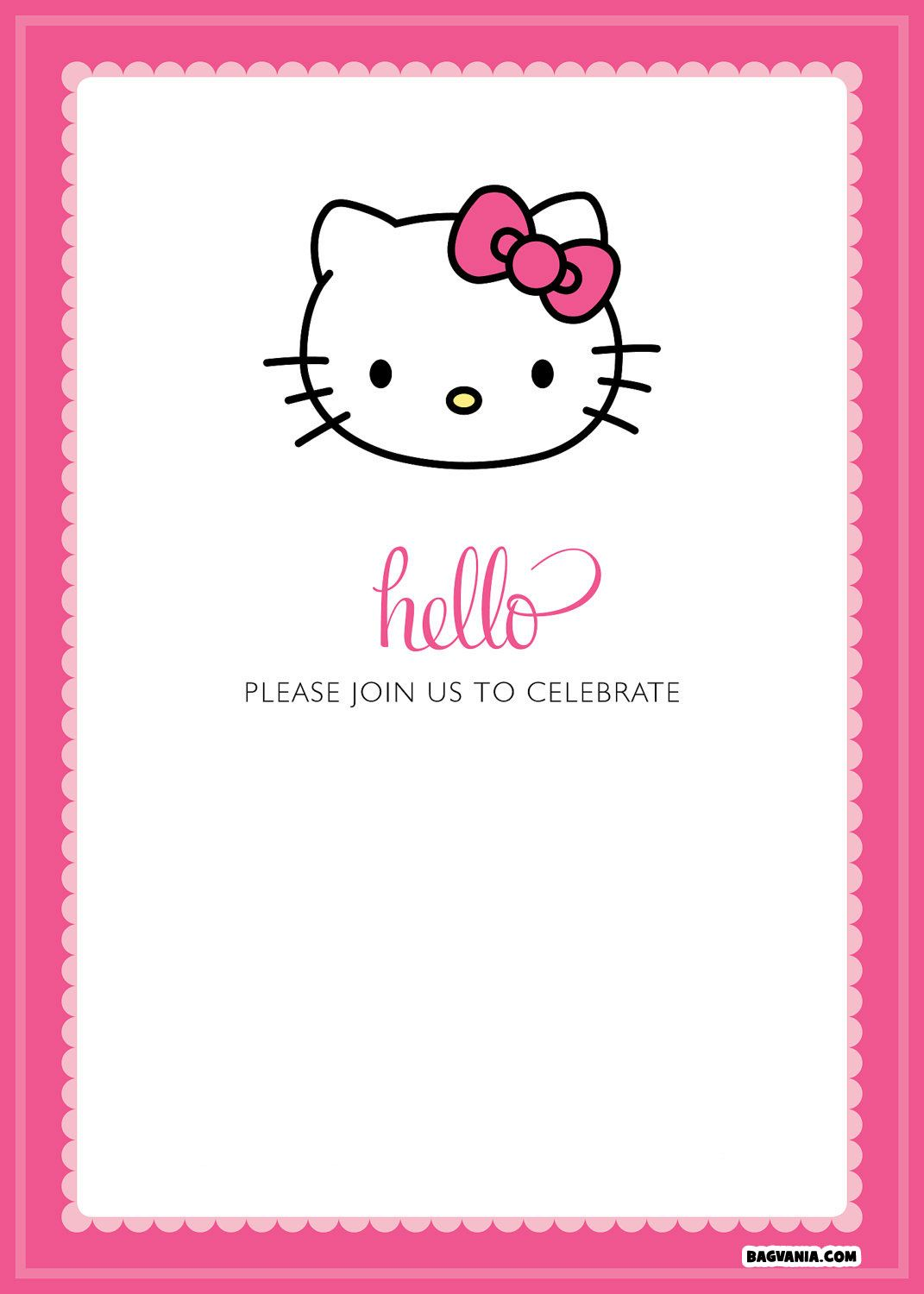 Printable Hello Kitty Invitations Rome Fontanacountryinn Com