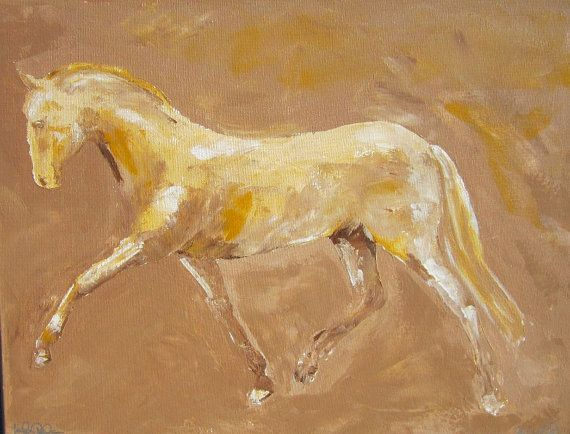Original Acrylic Painting. Horse in Extended Trot by Linda Donohue #Etsy $195