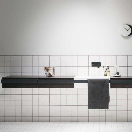 ever Link Badezimmerschrank mit schwarzem Stützgriff 60cm breit - badezimmer 60 cm