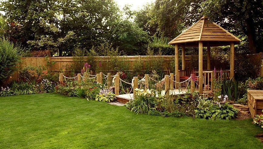 Image Result For Wide Garden Design