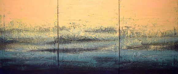 triptych 3 panel wall art impasto textured \