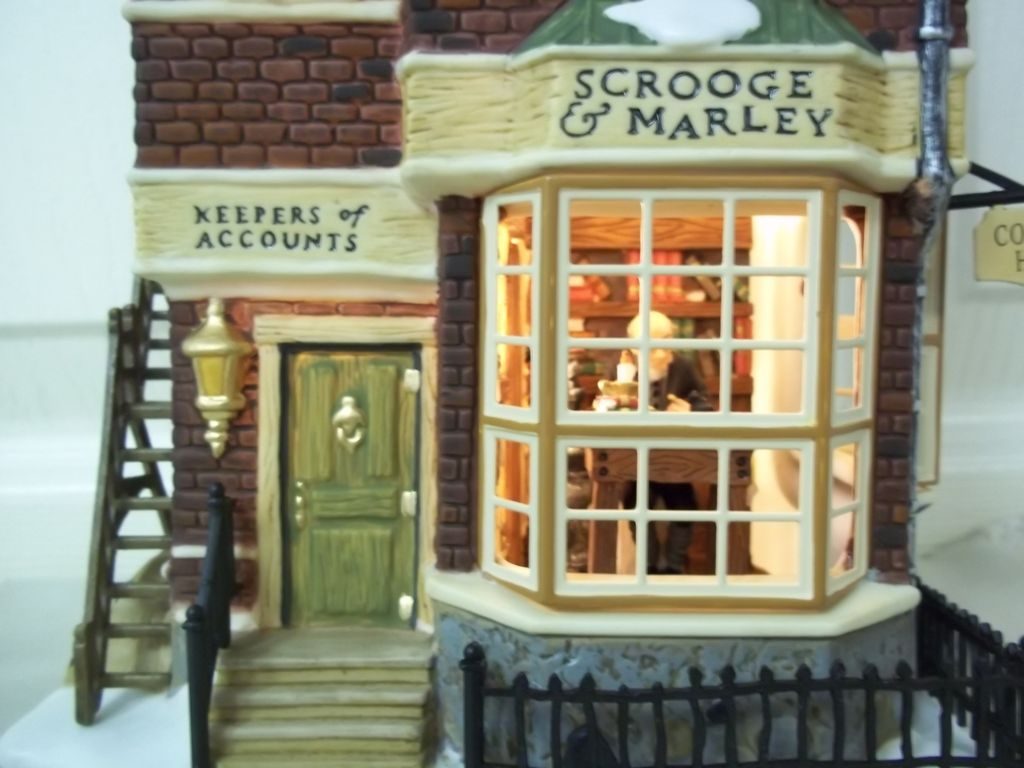 Scrooge And Marley Counting House Images Department 56 A Christmas Carol Scrooge And Marly Counting House Christmas Carol Scrooge Vintage Christmas